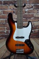 Squier Affinity Jazz Bass V 5 String Brown Sunburst
