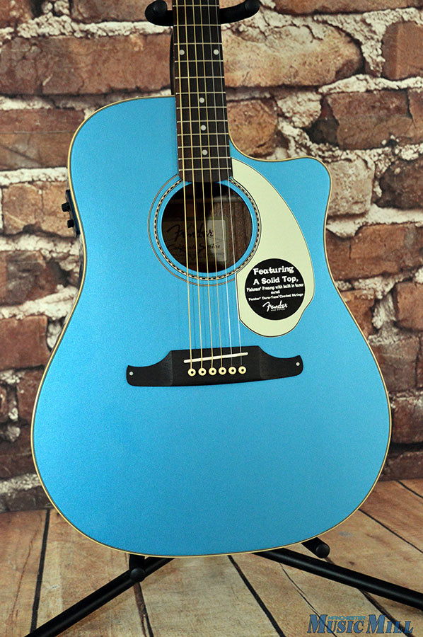 Fender Sonoran SCE Acoustic Electric Guitar Lake Placid Blue