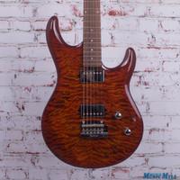 Ernie Ball Music Man Luke III BFR Electric Guitar Hazel Burst Quilt