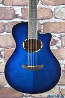 Yamaha APX500III Thinline Acoustic Electric Guitar Oriental Blue Burst