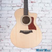 Taylor 214ce-QM DLX Special Edition Acoustic Electric Guitar Natural