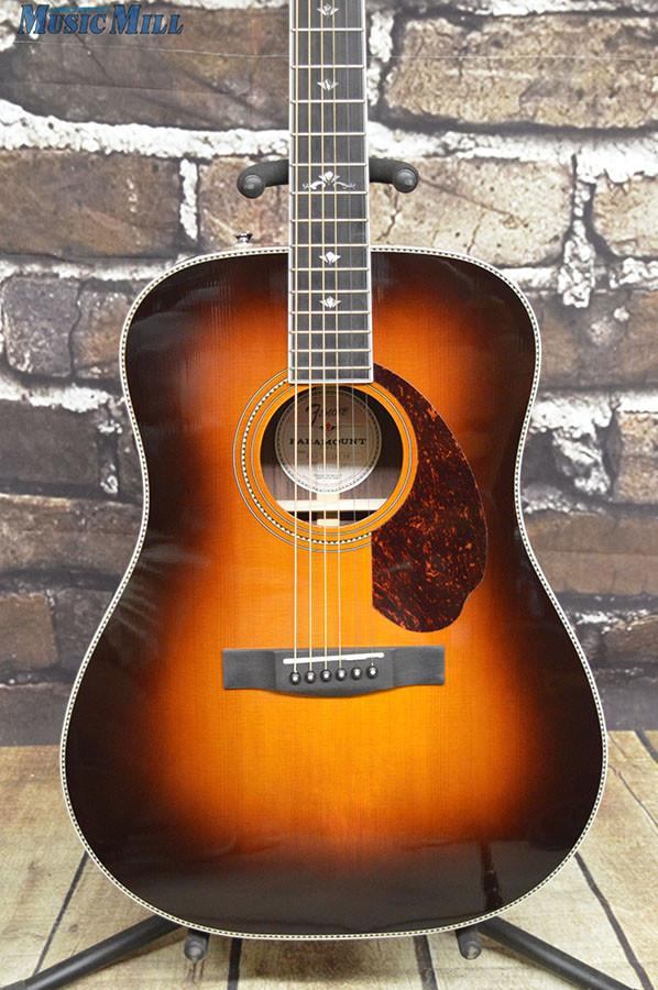 Fender Paramount PM 1 Deluxe Acoustic Guitar Vintage Sunburst