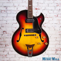 Vintage Univox Pro Hollowbody Electric Guitar Sunburst