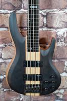 ESP LTD B-5E 5 String Bass Guitar Natural Satin