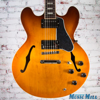 2016 Gibson Memphis ES-335 Block Semi Hollow Electric Guitar Faded Lightburst 6728