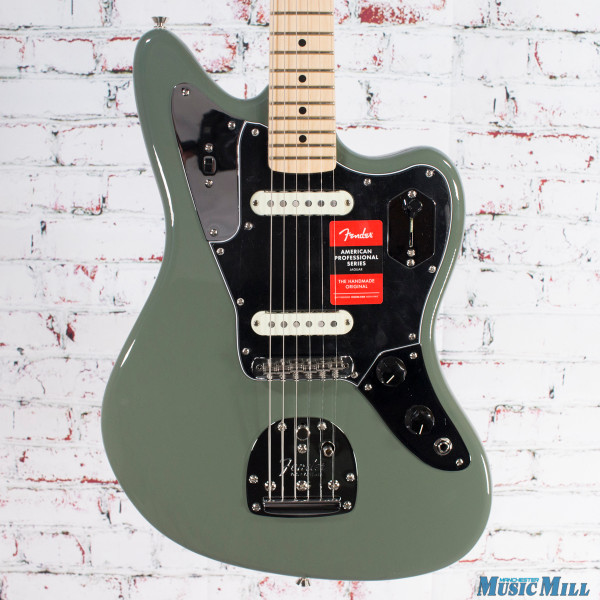 Fender American Professional Jaguar Electric Guitar Antique Olive