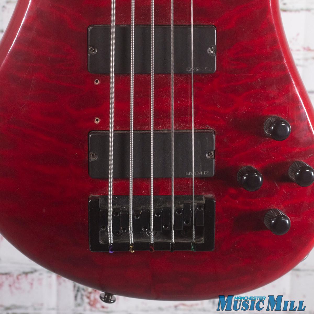 Spector NS-2000/5 5 String Bass Guitar Red Quilt