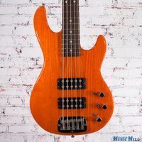 G&L L-2500 5-String Bass Guitar Clear Orange