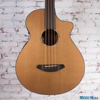 New Breedlove Solo Bass Fretless Acoustic Electric Bass Natural