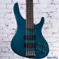 Washburn Bantam XB-500 5 String Bass Guitar Transparent Teal