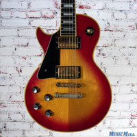 1981 Gibson Les Paul Custom Left Handed Electric Guitar Cherry Sunburst
