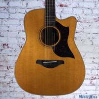 Yamaha A3M Dreadnought Acoustic Electric Guitar Vintage Natural