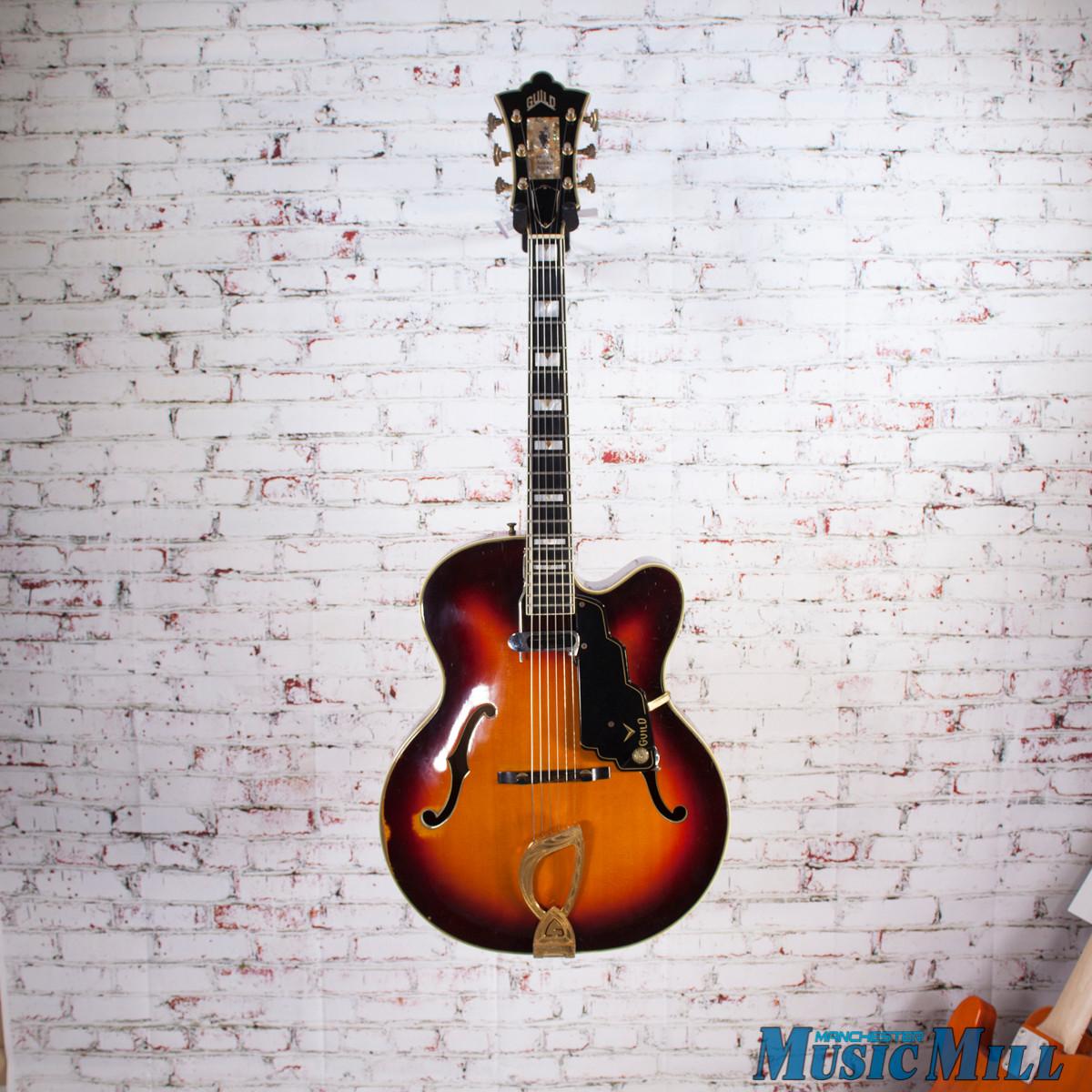 vintage 1964 guild artist award archtop hollow body electric guitar sunburst. Black Bedroom Furniture Sets. Home Design Ideas