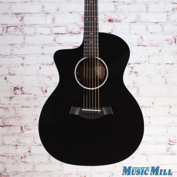 Taylor 214ce-BLK DLX Left Handed Grand Auditorium Acoustic Electric Guitar Black