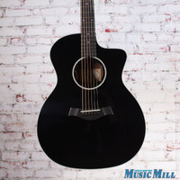 2017 Taylor 214ce DLX BLK Grand Auditorium Acoustic Electric Guitar Black