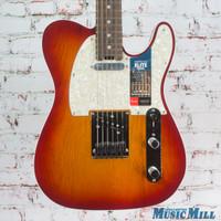 Fender American Elite Telecaster Electric Guitar Age Cherry Sunburst