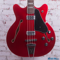 2013 Fender Coronado II Semi Hollow Electric Bass Candy Apple Red