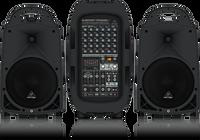Behringer EUROPORT PPA2000BT Ultra-Compact 2000-Watt 8-Channel Portable PA System