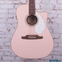 Fender Sonoran SCE Acoustic Electric Guitar Shell Pink