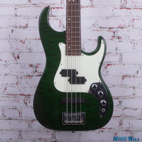 Samick Greg Bennett Signature Bass Electric Bass Green Flamed Top