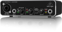 Behringer U-PHORIA UMC22 Audiophile 2x2 USB Audio Interface with MIDAS Mic Preamplifier
