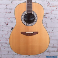 Ovation Ultra Deluxe Acoustic Electric Guitar Natural
