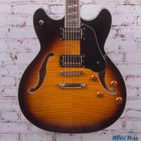 Washburn HB-35 Semi-Hollow Body Electric Guitar Vintage Sunburst