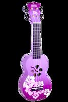 Mahalo Soprano Hibiscus ukulele Purple Burst
