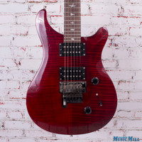 PRS SE Custom 24 Electric Guitar With Floyd Rose Wine Red