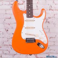 Vintage 1970s Fender Stratocaster Electric Guitar Carpi Orange