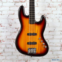 Squier Deluxe Active Jazz Bass 4-String Electric Bass 3-Tone Sunburst