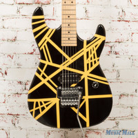 Misc EVH Replica Electric Guitar Black and Yellow Stripes