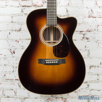 New Martin OMC28E Orchestra Acoustic Electric Guitar Sunburst
