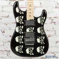 ESP LTD MW-SKULL Michael Wilton Signature Electric Guitar Black w/ Skull Graphic