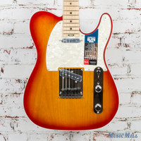 Fender American Elite Telecaster Electric Guitar Aged Cherry Burst Used