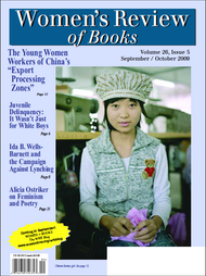 Women's Review of Books Volume 26, Issue 5