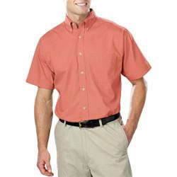 Men's Short Sleeve Stain Release Poplin (Avail in Tall)