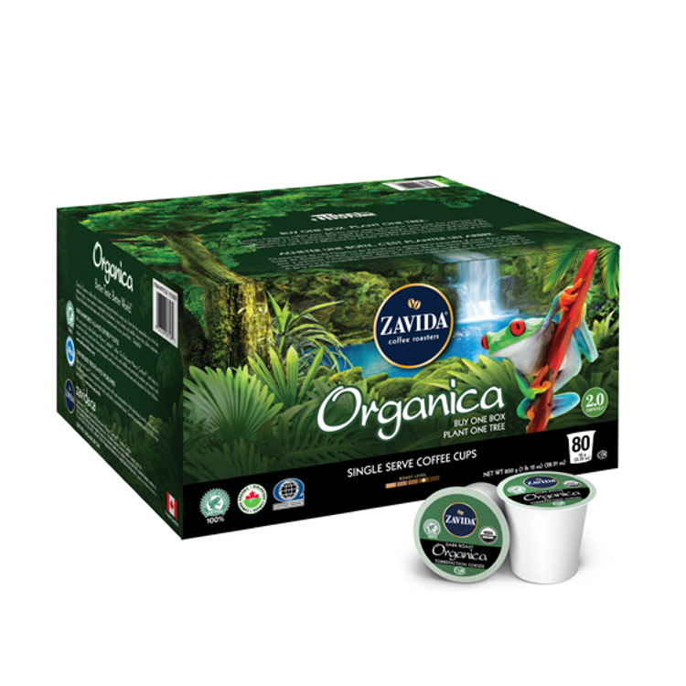 Organica Single Serve Coffee Cups - 80ct
