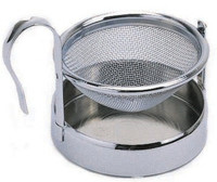 Stainless Steel Tea Strainer and Stand