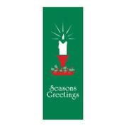 Seasons Greetings Candle Banner