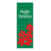 Happy Holidays Poinsettia Banner