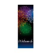 Bursting Fireworks Banner