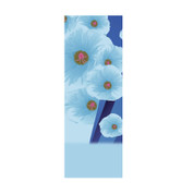 Powder Blue Floral Banner