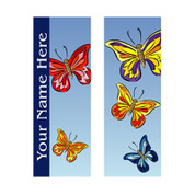 Colorful Butterflies Banner