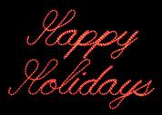 LED Happy Holidays Sign