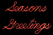 Seasons Greetings LED Sign