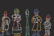 5 Piece Caroling Family