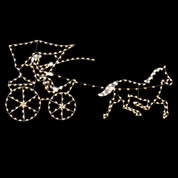Metal Cart with Horse