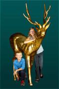 Elegant Deer in Gold Leaf