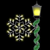 2' Winterfest Forked Snowflake